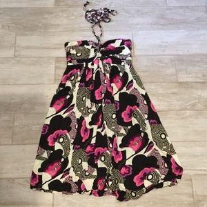 T-bags color printed halter dress